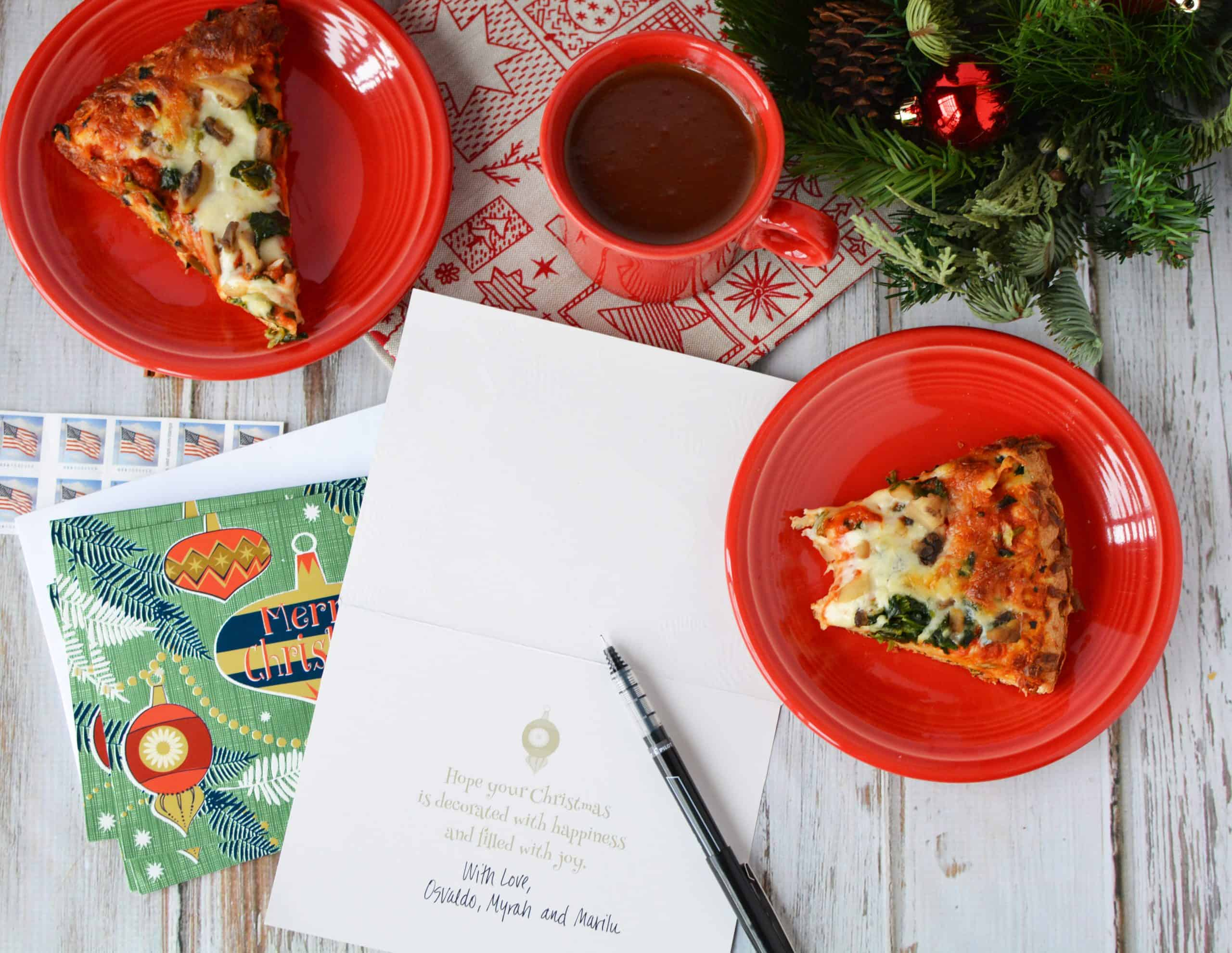 Pizza and Mexican Chocolate Caliente to Make every moment special
