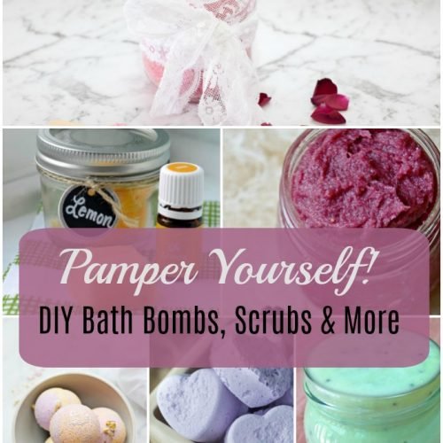 bath bombs 500x500 - 12 Ways to Pamper Yourself - DIY Bath Bombs, Scrubs & More!