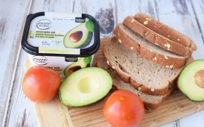 VeganGrilledCheeseIngredients mamacitaonthemove 400x250 - Vegan Grilled Cheese Sandwich with Avocado - Save $1.50 Pure Blends at Publix