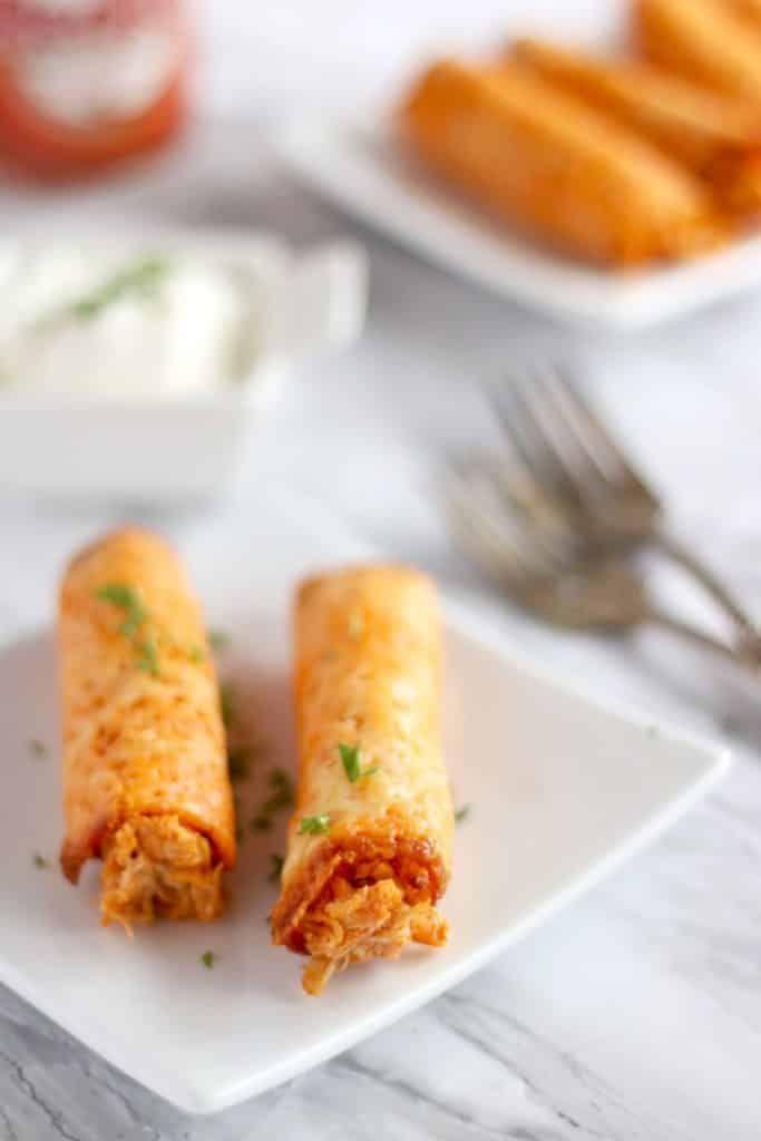 Chicken Taquitos Homemade Keto Snacks