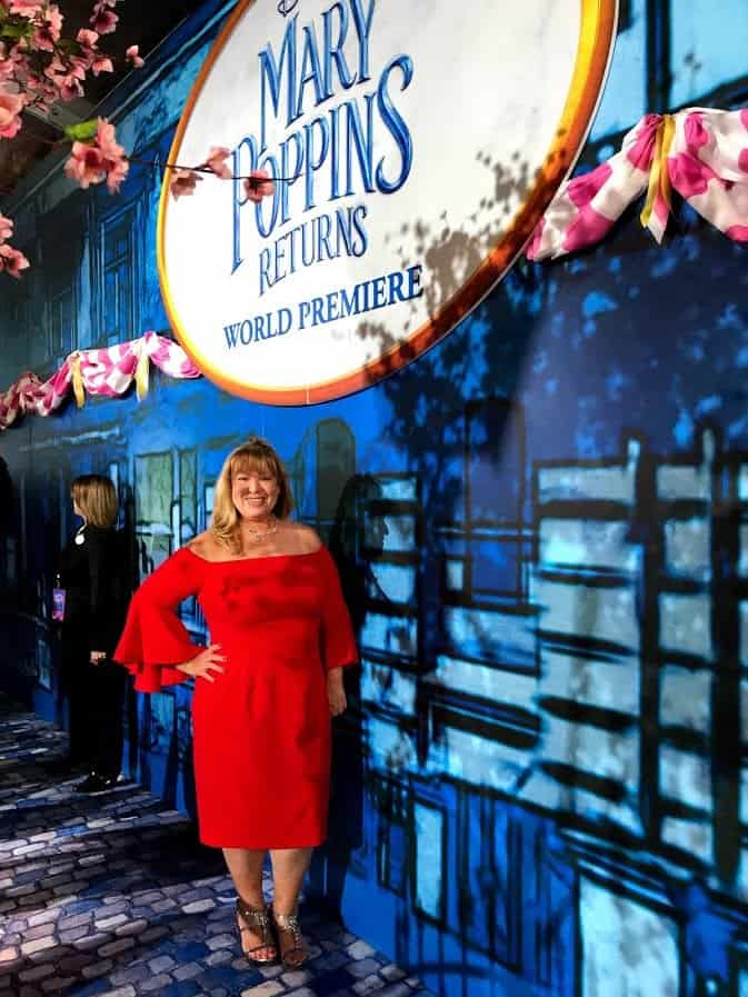 walking the red carpet Mary Poppins event