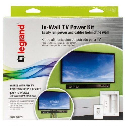 tvmount6 500x500 - Legrand In-Wall TV Power Kit - Mount a TV Without Wires Showing