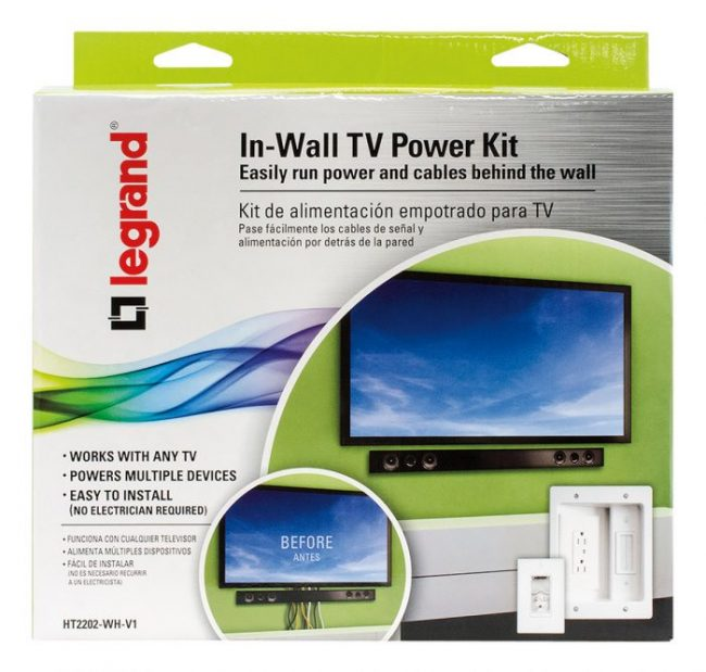 Legrand In-Wall TV Power Kit – Mount a TV Without Wires Showing