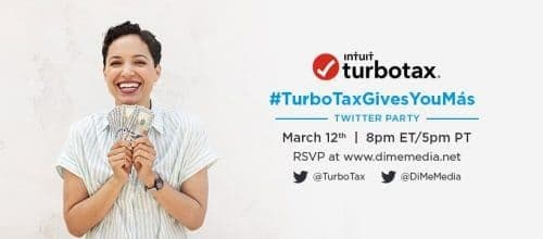 Join Us for the TurboTax Twitter Party March 12 #TurboTaxGivesYouMás
