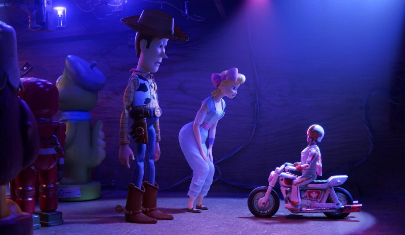Toy Story 4 Duke Caboom with Woody and Bo Peep