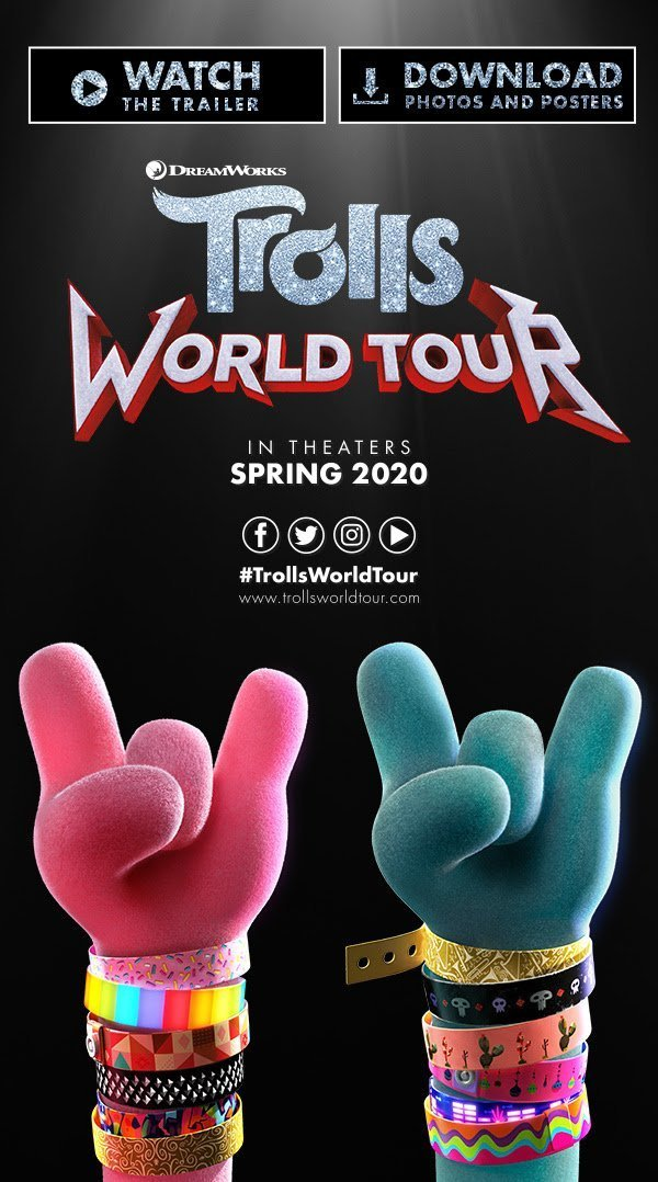 TrollsWorldTourPoster - TROLLS WORLD TOUR - New Posters