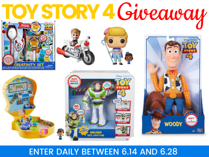 toy story 4 giveaway 720x540 - Toy Story 4 Giveaway! Win a Prize Pack  $80+ Value