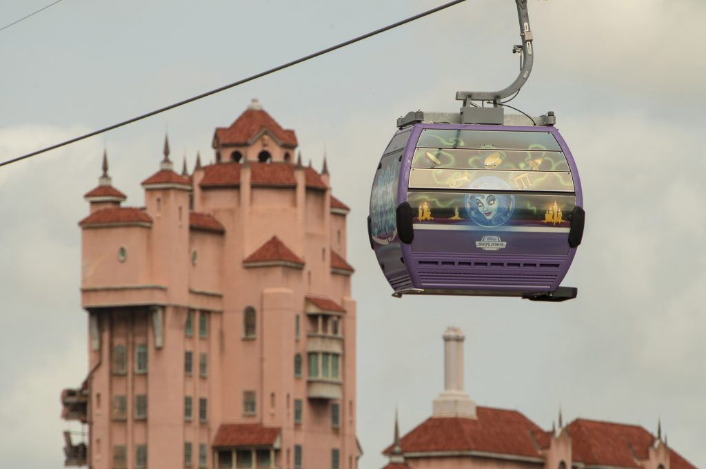 Disney Skyliner purple Gondolas
