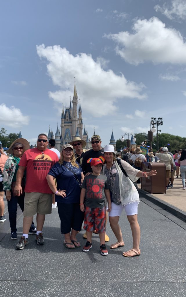 Group of people at Disney World