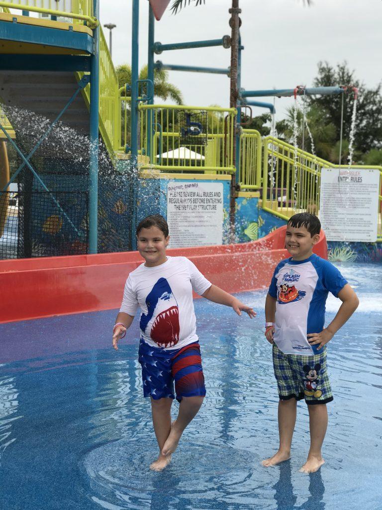 Kids playing at Encore Resort waterpark