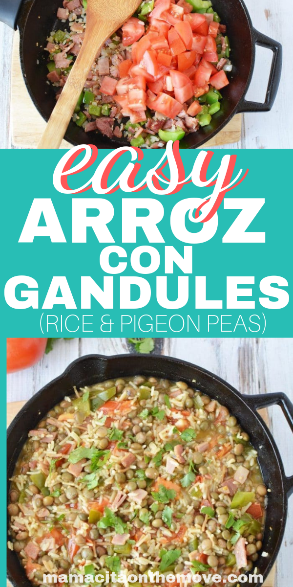 RiceWithPigeonPeas - Easy Dish Arroz Con Gandules - Perfect for Summer