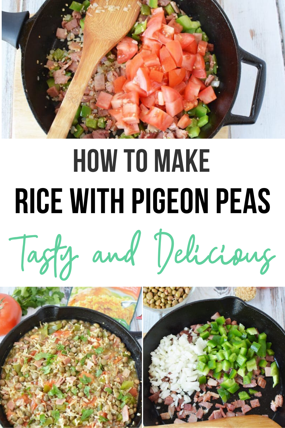 RicewithPigeon - Easy Dish Arroz Con Gandules - Perfect for Summer