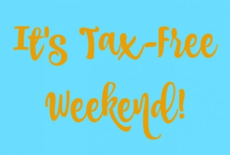 Tax-Free Weekend sign