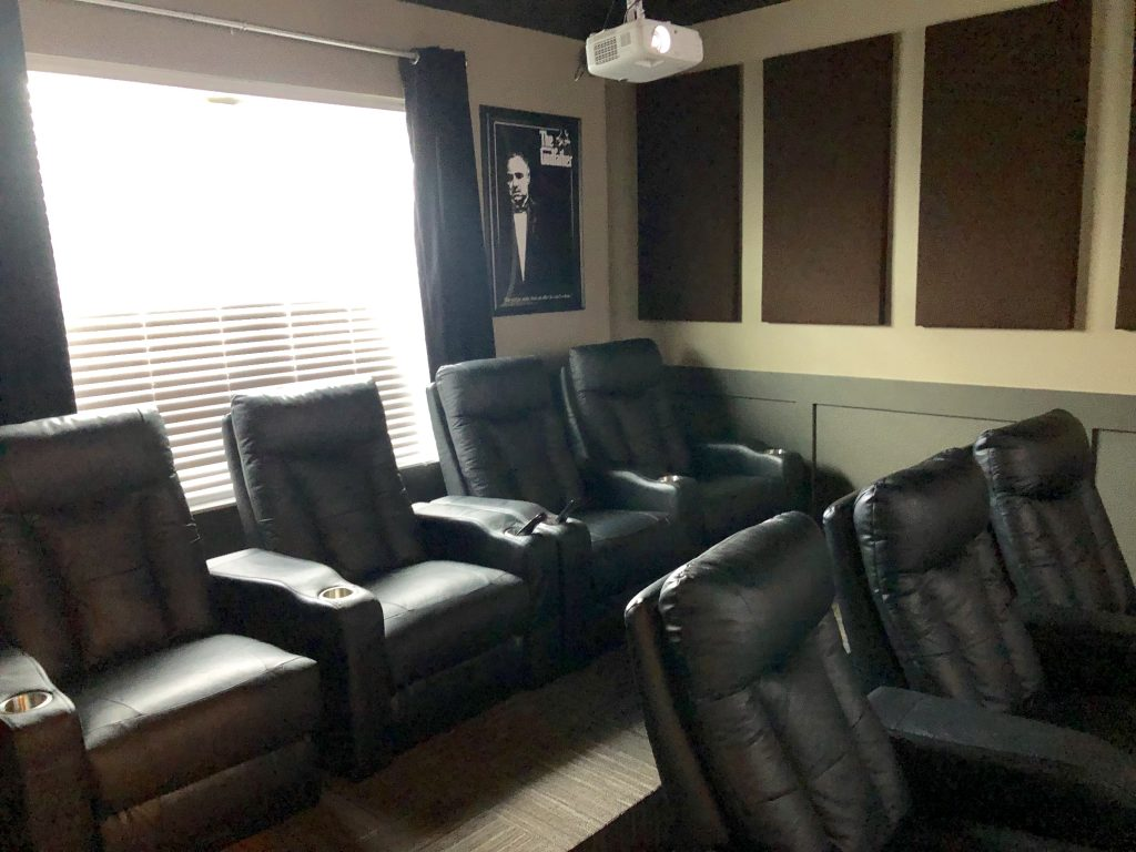 theatre room in a home