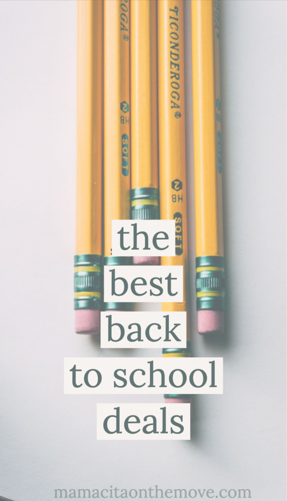 poster with pencils for back to school