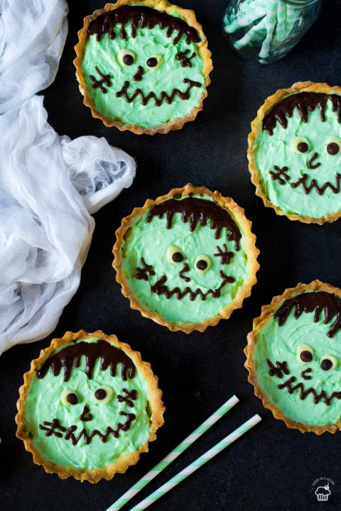 Frankenstein Tartlets halloween recipe