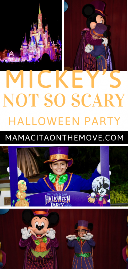 Mickey not so scary halloween party collage