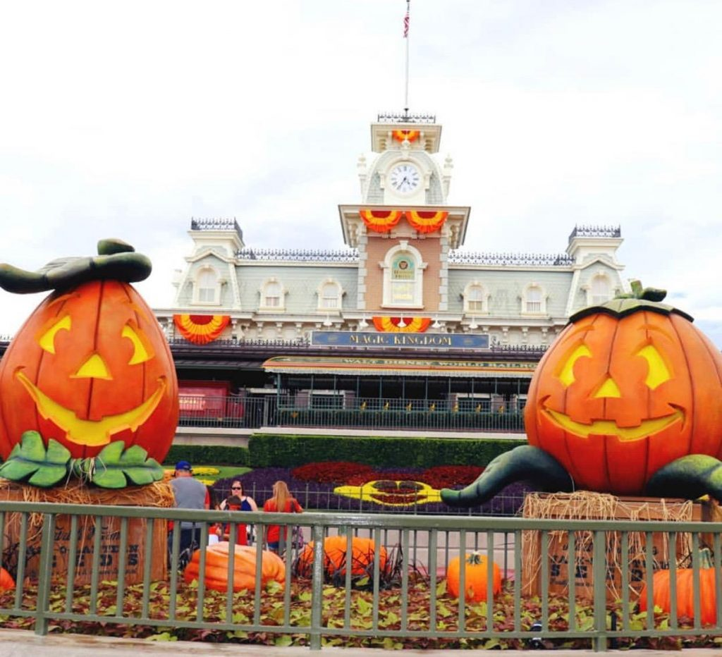 Disney entrance during Halloween