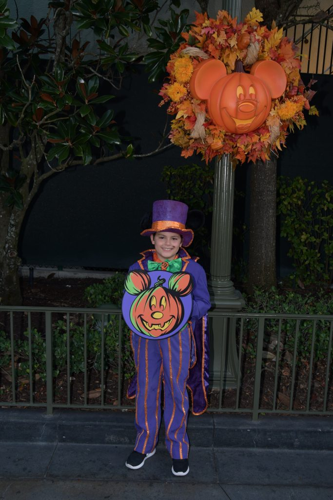Kid at Disney Mickey Not SO Scary Halloween Party