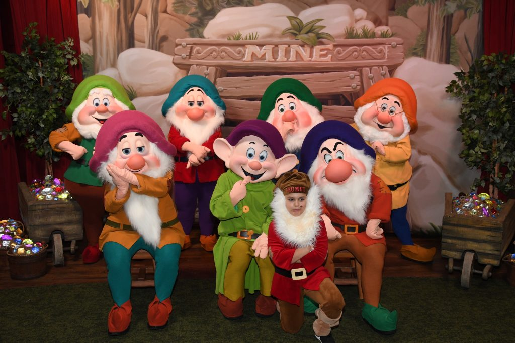 kid with the dwarfs in DIsney