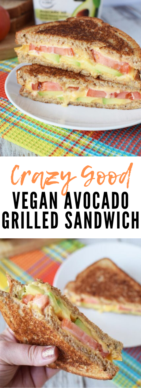 VeganGrilledAvocado - Vegan Grilled Cheese Sandwich with Avocado