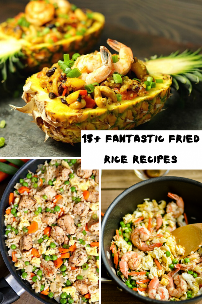 fried rice and pineapple