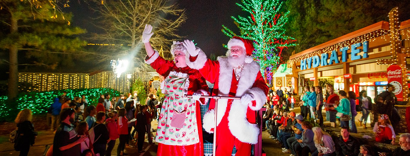 santa claus in Stone Mountain Park