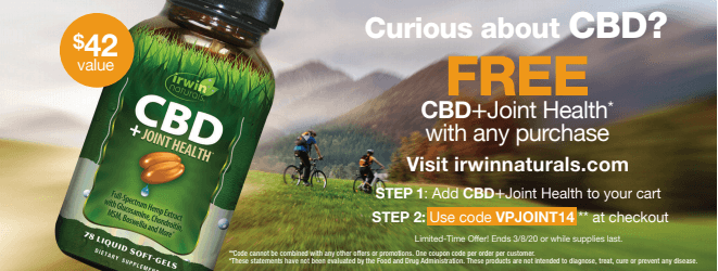 Irwin Naturals CBD for Joint Health – Free Bottle!