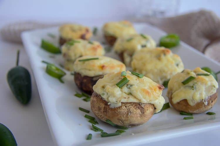 jalapeno stuffed mushrooms - 15 Easy Jalapeno Recipes - Perfect Mother's Day Appetizers