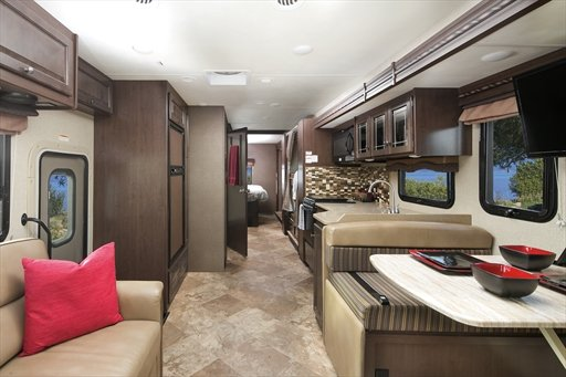 Inside of motorhome rent an RV for the weekend