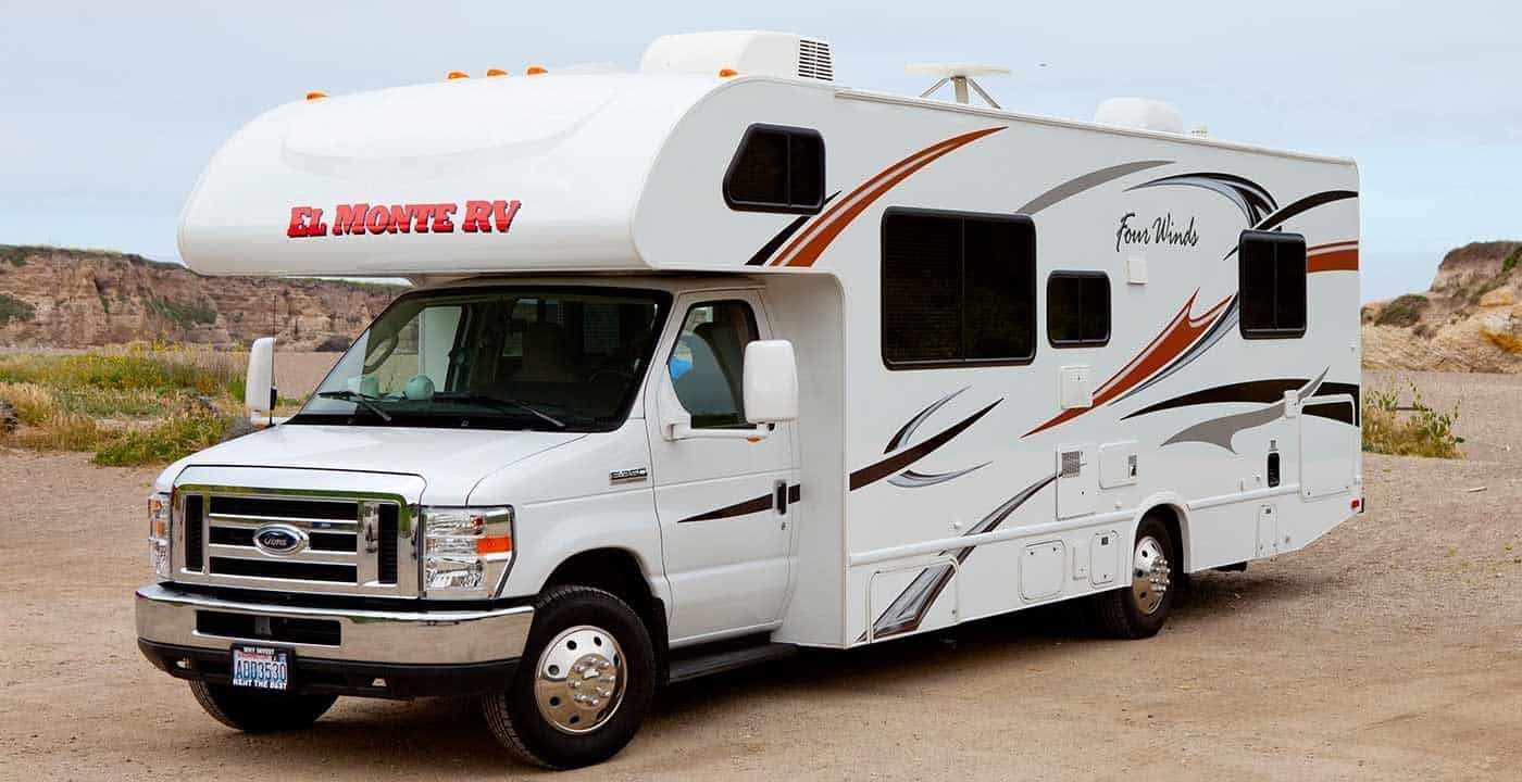 El Monte RV white rent an RV for the weekend