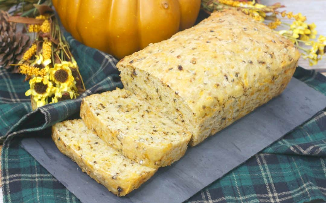 Guilt-Free Pumpkin Beer Bread with Green Hatch Chile