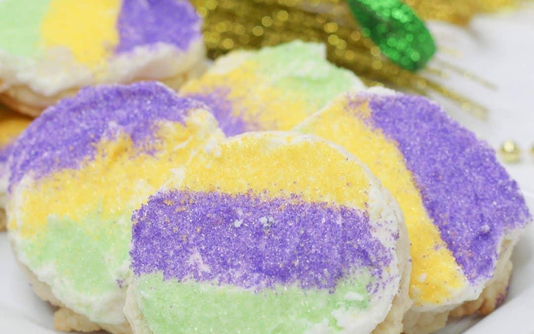 Super Easy Mardi Gras Cookies Recipe